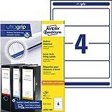 AVERY Zweckform L4761-100 Ordnerrücken Etiketten (mit ultragrip, 61 x 192 mm auf DIN A4,...