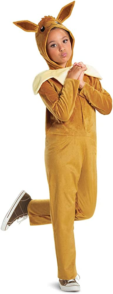 Eevee Dedication Pokemon Kids Costume Hooded Jumpsuit Official sold out wit