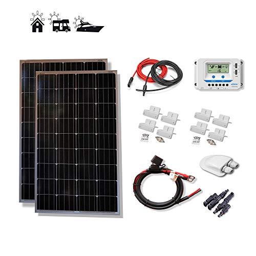 VIASOLAR Kit 200W Eco 12V Panel Solar 2X100W monocristalino células alemanas