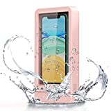 Wall Mount Phone Holder, Fansteck Wall Phone Holder Mount with Reusable Nano Adhesive Strip, for Bathroom,Shower,Kitchen,Make up and More, Compatible with Mobile Phones Under 6.9 inches (Pink)
