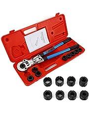 Krimptang TH 16-32 mm en V 12-28 mm, Contour-Pijpkrimptang, persbekken voor koperen buis, composietbuis