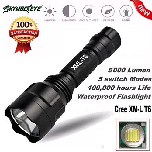 Xmansky 5000Lm C8 CREE XM-L T6 LED 18650 Taschenlampe 5 Modus Fackel Taktische Licht Lampe