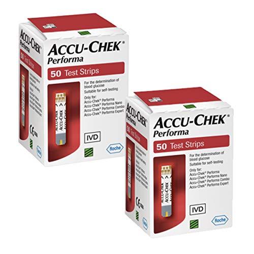 ACCU-CHEK Tiras reactivas Performa Paquete de 100 Tiras
