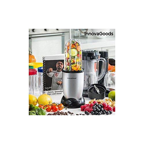 innovagoods ig114765Blender Mixeur en verre, 250W, gris