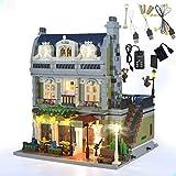 GEAMENT Kit de luz LED para restaurante parisino Creator Expert – Compatible con modelo de ladrillos de construcción Lego 10243 (juego de Lego no incluido)