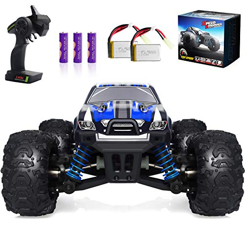 Speed Pioneer VCANNY Remote Control Car, Terrain RC Cars, Electric Remote Control Off Road Monster Truck, 1: 18 Scale 2.4Ghz Radio 4WD Fast 30+ mph RC Car, with 2 Rechargeable Batteries