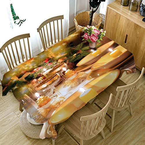 XXDD New 3D Tablecloth Golden Ball Thicken Pure Cotton Rectangle Round New Year Party Banquet Tablecloth A4 140x200cm