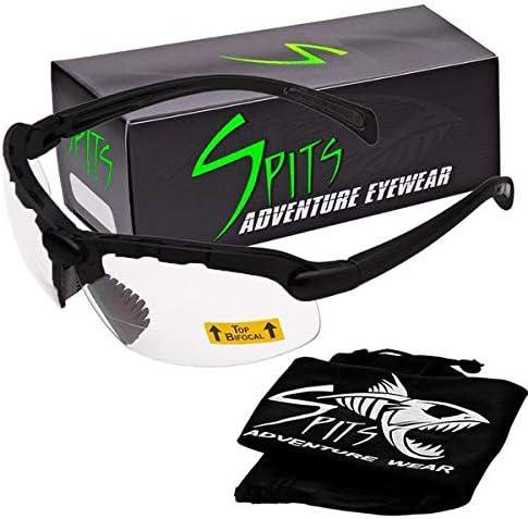 Spits Eyewear Hunting Top Focal OR Bottom Bifocal Shooting Safety Glasses Black Frame Various product image
