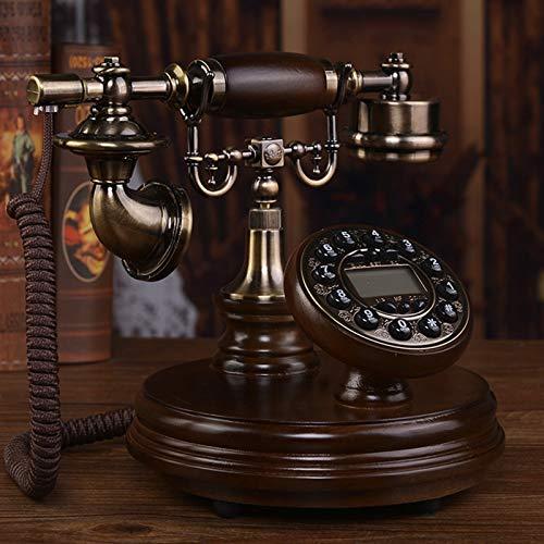 Cajolg Teléfonos Retro creativos Teléfono de marcación giratoria Oficina Teléfono Fijo Retro con Cable para Oficina en casa Hogar de Lujo