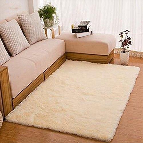 ALCYONEUS, tappeto morbido, rettangolare, antiscivolo. Adatto per il pavimento di camera da letto o soggiorno, Beige, 80*120cm
