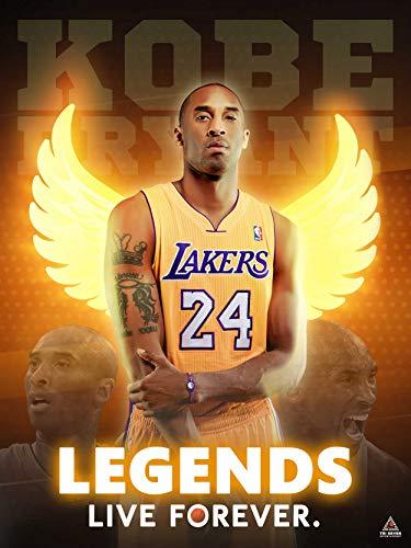 777 Tri-Seven Entretenimento Kobe Bryant Poster Legends Viva para sempre impressão Wall Art, 18x24, Multi-Cor