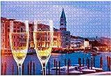 1000 piezas-Viaje a Venecia Italia Imágenes románticas de Venecia, Royalty Rompecabezas de madera DIY Rompecabezas educativos para niños Regalo de descompresión para adultos Juegos creativos Juguetes