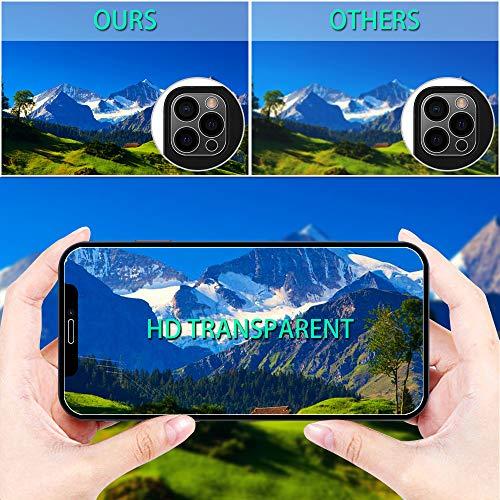 ANEWSIR Kompatibel mit iPhone 12 Pro Hülle, 3 Stück Panzerglas Schutzfolie und 2 Stück Kamera Schutzfolie, 9H Klar Blasenfrei Displayschutz, Weiche TPU Silikon Case Cover - Transparent
