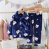 EETYRSD Las pequeñas y Medianas niños de Dibujos Animados Inicio Servicio Oso de la Estrella Pijamas Set cómodo Inicio Pijamas Set (Color : Blue, Size : 90cm)