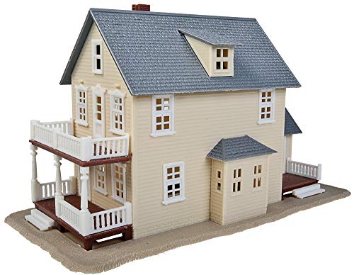 Walthers Trainline HO Scale Model Two-Story House