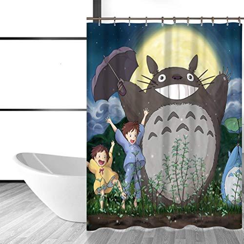 Feidaeu Duschvorhänge Badezimmer Dekor Niedlichen Totoro Cartoon Wasserdichte Kinder Ges&e, Sichere Und Umweltfre&liche Gardinen 12 Haken