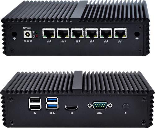 NRG Systems IPU660 Router/Firewall (lüfterlos) mit Intel Core i3-6006U, DDR4 SO-DIMM, 6xLAN, mSATA SSD, 15W TDP (60GB, 8GB RAM)