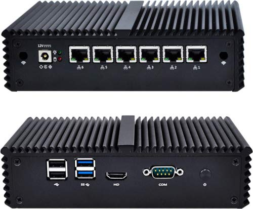 NRG Systems IPU661 Router/Firewall (lüfterlos) mit Intel Core i3-6100U, DDR4 SO-DIMM, 6xLAN, mSATA SSD, 15W TDP (16GB, 8GB RAM)