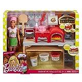 MATTEL. Pizzeria compatible con Barbie - Juego de juego con muñeca de juguete 3 +