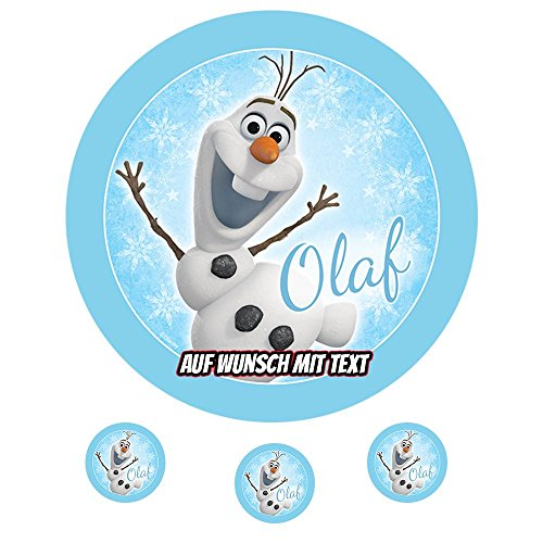 Tortenaufleger Geburtstag Tortenbild Zuckerbild Oblate Motiv: Disney Frozen Olaf 02 (Zuckerpapier)