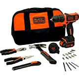 BLACK+DECKER BDCDD12HTSA-QW - Taladro Atornillador 10.8V litio (1.5Ah), 26 Nm, incluye set de...