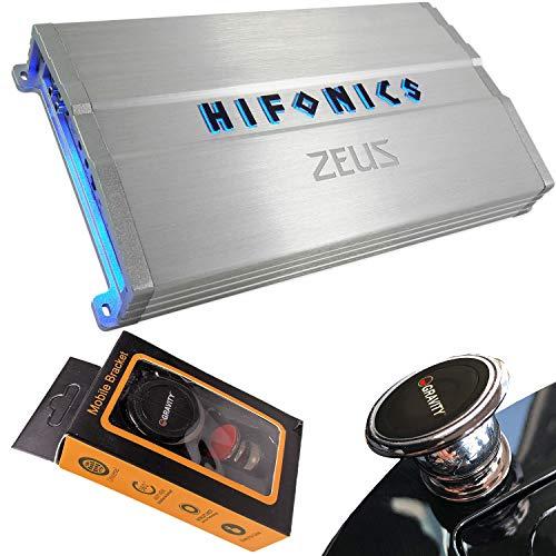 Hifonics ZG-1200.4 Zeus Gamma 1200 Watts 4-Channel Full Range Bridgeable Audio Amplifier Class A/B Amp for Car & Vehicles with Gravity Magnet Phone Holder Bundle