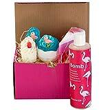 Badebomben Wellness Geschenkset (Let`s flamingo, ohne Handtuch) - Sets aus Badekugeln und Seife und...
