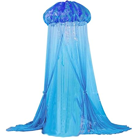 HLSUSAN Ciel de Lit pour Bebe Flle et Gar/çon Moustiquaire D/écorative pour Lit Mignon Forme de D/ôme Coton Rideaux de Lit Maison de Jeux Lavable en Machine Tente de Jeu