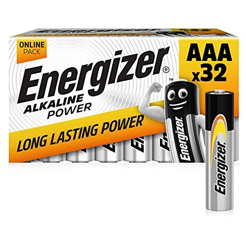 Energizer AAA Batteries, Alkaline Power Triple A Batteries, 32 Pack