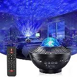 azorex Proyector Estrella LED Luz Nocturna Infantil con Control Remoto y Altavoz Bluetooth Lampara Estrellas Varios Modos con Temporizador