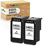 Palmtree リサイクルインクカートリッジ Canon PG-245XL CL-246XL PG-243 CL-244用 Pixma MX492 MX490 MG2420 MG2520 MG2522 MG2920 MG2922 MG3029(1ブラック) 3色1個)。