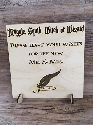 FSSS Ltd Disney Harry Potter Inspirado en Squib Wizard Mr. Mrs. invitado...