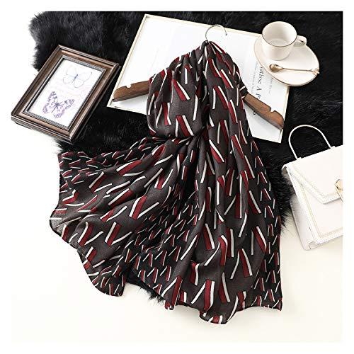 ULIULINH dames zakdoeken, winddicht, druk in kleur ijs, hals van katoen, sjaal voor koud weer