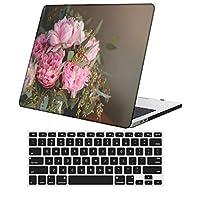 YixiuGG 切り抜きデザインプラスチック製ウルトラスリムライトハードケースキーボードカバー互換MacBook Air 13インチ2020リリース、RetinaディスプレイタッチID、モデルA2337 M1 / A2179、花 B 1861