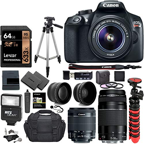 Canon T6Variation, Lot de 4 objectifs Premium, Noir