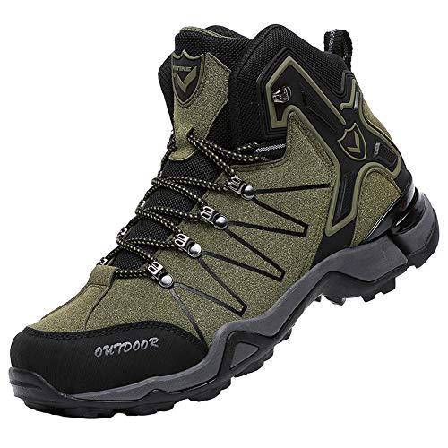 [VITIKE] トレッキングシューズ メンズ ハイカット 防水 ゴアテックス ハイキングシューズ 透湿 軽量 登山靴 レディース アウトドア スニーカー ウォーキングシューズ 大きいサイズ 滑り止め スノーブーツ 多機能 通勤 25.0