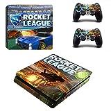 WANGPENG Rocket League PS4 Slim Calcomanía Protectora de Piel para Consola PS4 Slim y Controlador de Vinilo
