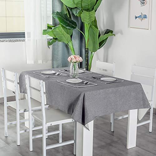 N/A Jinyuan Mantel De Color SóLido Impermeable A Prueba De Aceite Anti-Escaldado Ropa De Mesa De Comedor De Lino De AlgodóN DecoracióN De Mesa De Café Mantel Rectangular