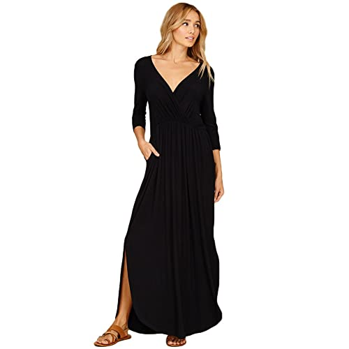Black Maxi Dress With Slits Amazon