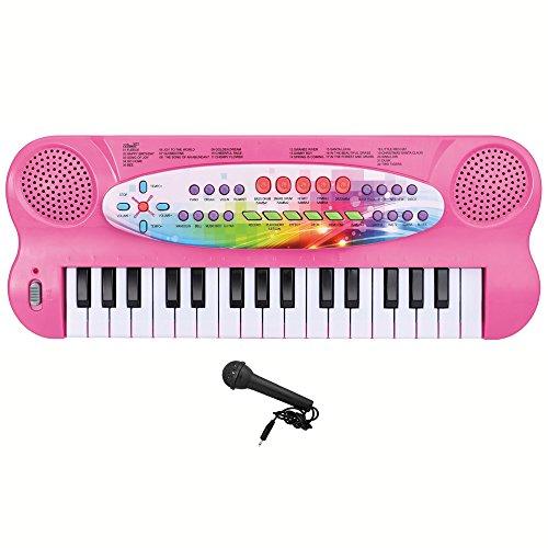 Lightahead HS-3211A 32-key Electronic Organ Keyboard Piano Portable Multi-function Fun Piano - Pink