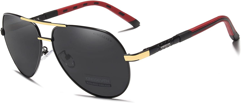 Super sale period Max 73% OFF limited KINGSEVEN Brand Men's Polarized Sun Fashion Light Glasses Ultra