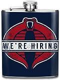 GI Joe Cobra Commander stellte Taschenflasche Flagon 7oz aus tragbarem Edelstahl Flagon ein