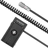 Andoer Camera DV Batería Fuente de Alimentación Adaptador de Placa de Montaje para Blackmagic Cinema Pocket Camera BMPCC 4K para Sony NP-F970 F750 F550 Batería (Alambre Resorte)