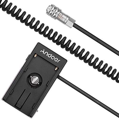 Andoer Kamera Akku Netzteil Mount Plate Adapter für Blackmagic Cinema Pocket Kamera BMPCC 4K kompatibel mit Sony NP-F970 F750 F550 Akku