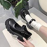 DQS Zapatos de Mujer, Zapatos Lolita de Estilo japonés para Mujer, Zapatos de Plataforma de tacón Alto Vintage Soft Sister Girls, Zapatos de Mary Jane para Estudiantes universitarios