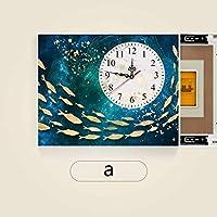 ヒューズボックスの配布ボックスの交換ドアを使用してサイレント時計は油圧ロッドパンチ無料ヒューズモジュールではメーターボックス装飾リビングルームのベッドルームプッシュプル装飾画をブロック (Color : Flip Cover a, Size : 40*30cm)