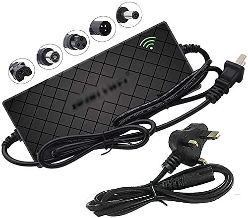 SKYWPOJU Cargador de batería de Litio, Scooter eléctrico de 48 V 2 A, monopatín Monociclo de Equilibrio automático, monopatín, Adaptador de Corriente Universal Li-Ion (Color : 54.6V 2A, Size : B)