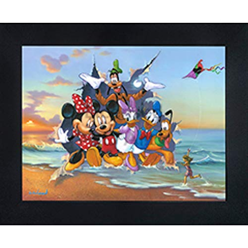"""Mickey & the Gang 3D Poster Wall Art Decor Framed   14.5x18.5""""   Disney Lenticular Movie Posters & Prints   Mickey, Minnie, Pluto, Goofy, Donald & Daffy Duck Picture   Kids Room Merchandise & Gifts"""