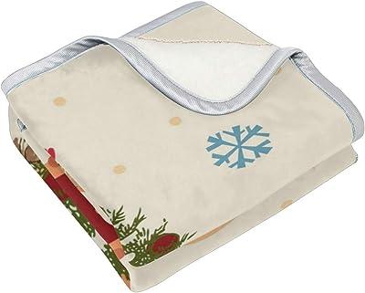 4cc6a98392d Wamika Merry Christmas Throw Blanket Home Decor, Super Soft Lightweight  Teddy Bear Xmas Tree Snowflake
