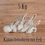 5 Kg ca. 400 Stück Kaninchenohren mit Fell fettarm BARF